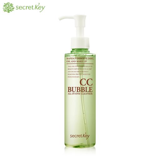 Secret key средство для снятия вв и сс макияжа cc bubble all in one cleanser