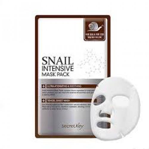 Secret key маска для лица тканевая с муцином улитки snail intensive mask pack 1p (sheet)