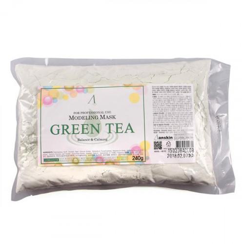 Anskin маска альгинатная с зеленым чаем grean tea modeling mask 240 g