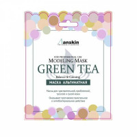 Anskin маска альгинатная с зеленым чаем grean tea modeling mask (саше)
