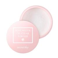 Secret key пудра рассыпчатая для жирной кожи rose water oil clear powder