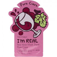 Tony moly маска для лица с экстрактом красного вина i'm real red wine mask sheet pore care