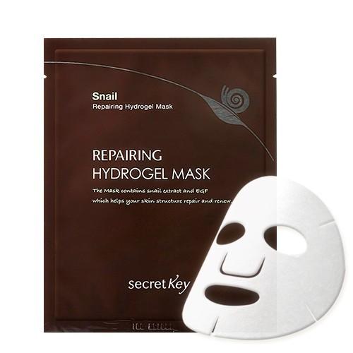 Secret key Маска для лица гелевая с муцином улитки Snail + Egf Repairing Hydrogel Mask