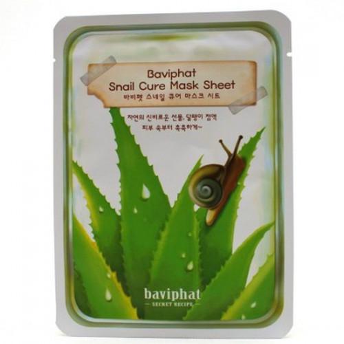 Baviphat Маска тканевая улиточная Snail Cure Mask Sheet