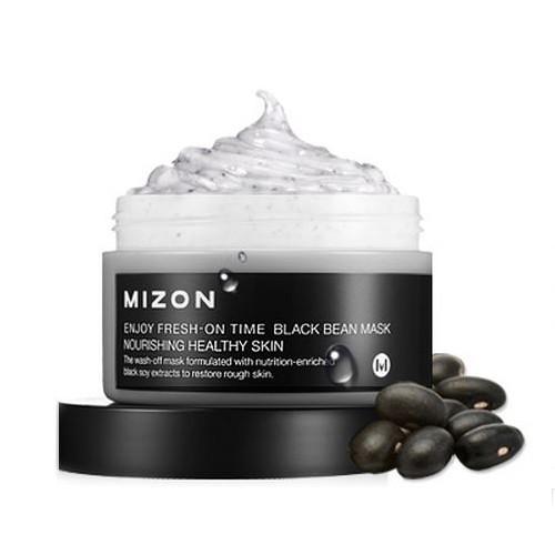 Mizon маска для лица с черными соевыми бобами enjoy fresh-on time black been mask