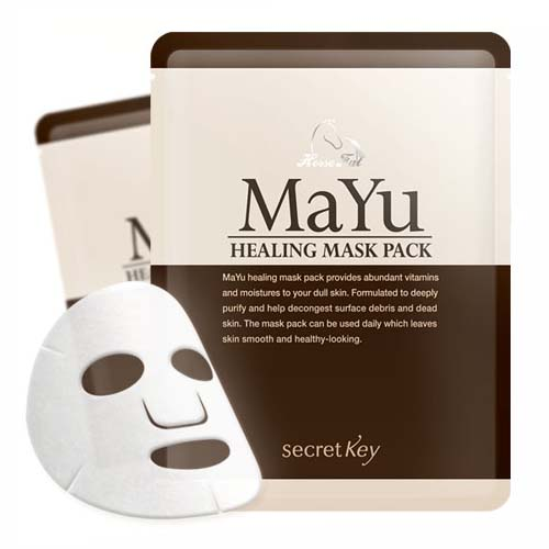 Secret key маска для лица питательная mayu healing mask pack