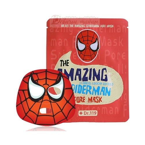 Baviphat маска для ухода за порами лица Dr.119 The Amazing Spiderman pore Mask