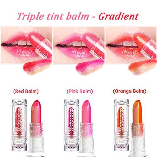 Berrisom тинт-бальзам для губ трехцветный oops my triple tint balm
