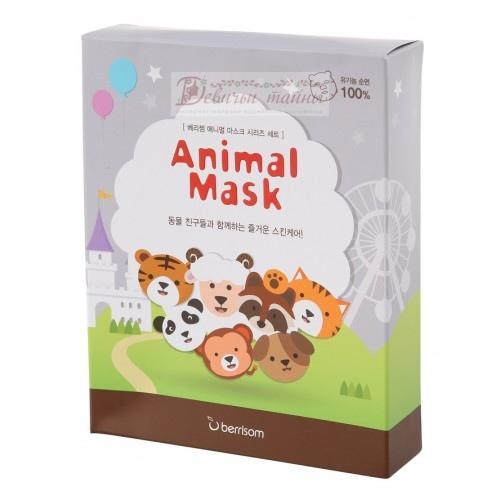 Berrisom Маска тканевая набор Animal Mask Series 7p set