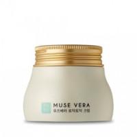Deoproce Крем для лица с экстрактами алоэ вера и кактуса Musevera Cheer Up Cream