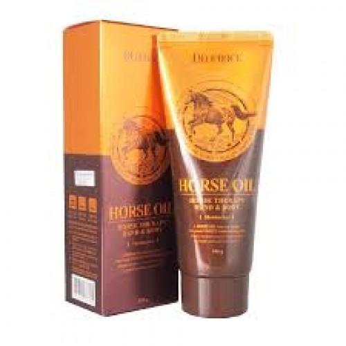 Deoproce Крем для тела и рук с лошадиным жиром Hand & Body - Horse Oil