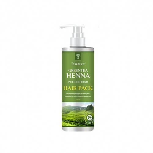 Deoproce Маска для волос с зеленым чаем и хной green Green Tea Henna Pure Refresh Hair Pack