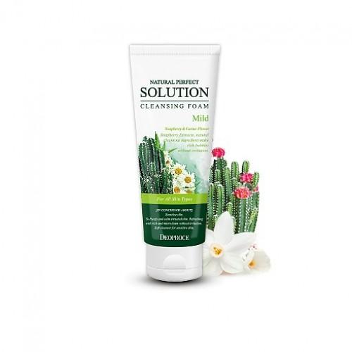 Deoproce пенка для умывания с кактусом и ромашкой natural perfect solution cleansing foam mild
