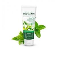 Deoproce пенка для умывания зеленый чай natural perfect solution cleansing foam greentea