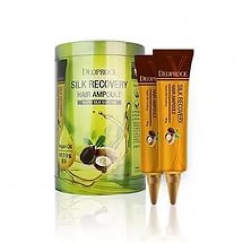 Deoproce сыворотка для волос восстанавливающая silk recovery hair ampoule