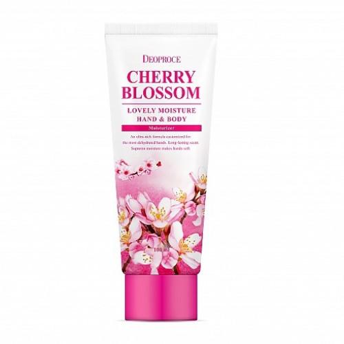 Deoproce Крем для рук и тела питательный Moisture Hand & Body Cherry Blossom Lovery