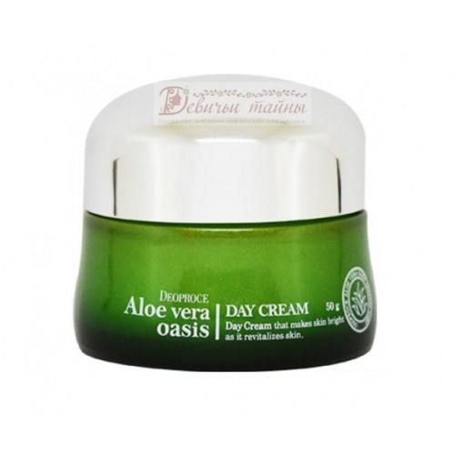 Deoproce Крем дневной для лица Aloe Vera Oasis Day Cream
