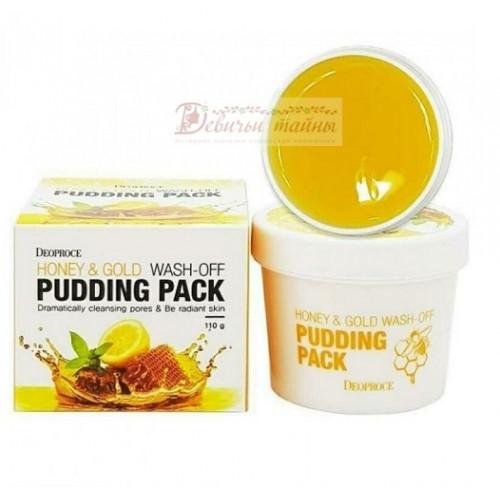 Deoproce Маска для лица с медом и золотом Honey & Gold Wash-Off Pudding Pack