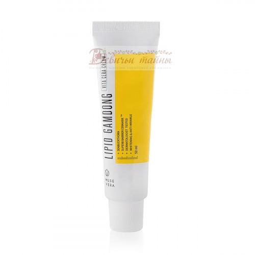 Deoproce Крем осветляющий Musevera Lipid Gamdong Zinc Vita Cream
