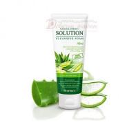 Deoproce Пенка для умывания алое Natural Perfect Solution Cleansing Foam Green Edition Aloe