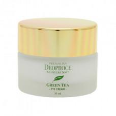 Deoproce крем для век увлажняющий с экстрактом зеленого чая premium green tea total solution eye cream