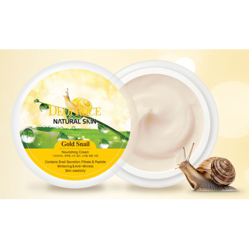Deoproce Крем для лица и тела Natural Skin Gold Snail Nourishing Cream
