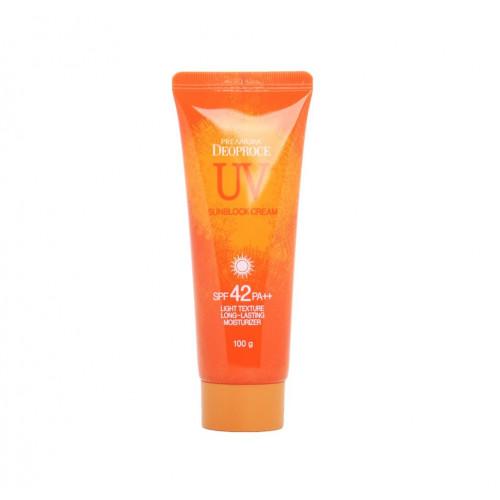 Deoproce Крем для лица и тела Premium UV Defence Sun Block Cream SPF 42+ PA++