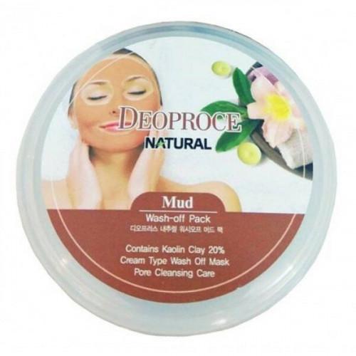 Deoproce Маска для лица глиняная Mud Wash-Off Pack
