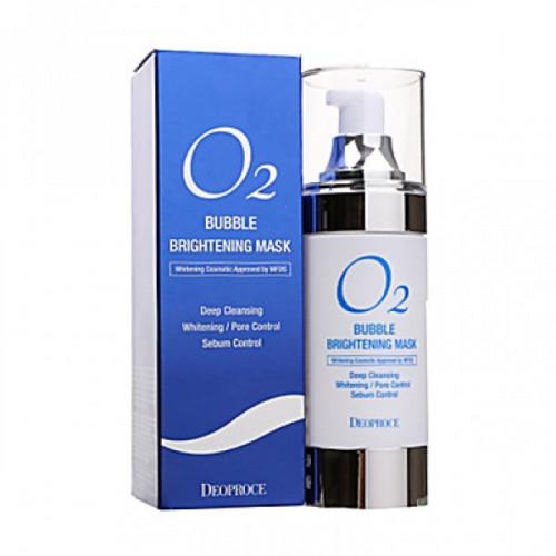 Deoproce Маска кислородная для лица O2 Bubble Brightening Mask