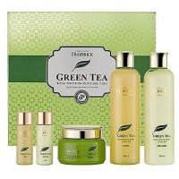Deoproce набор для лица уходовый premium greentea total solution 3 set