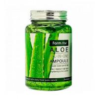 FarmStay Сыворотка для лица ампульная с экстрактом алое Aloe All-In-One Ampoule