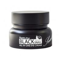 Farmstay Крем для глаз с муцином черной улитки Black Snail All In One Eye Cream