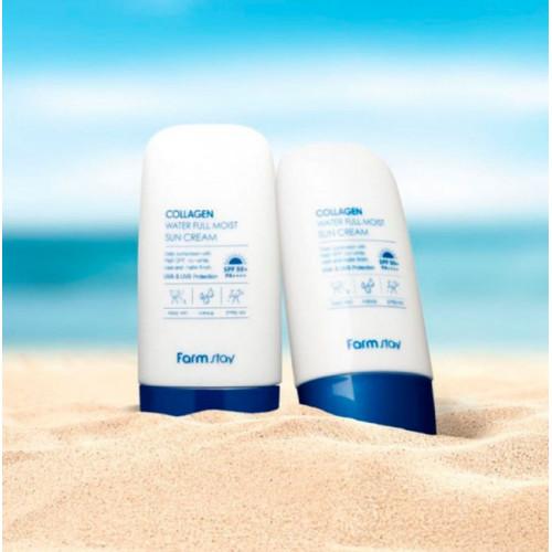 FarmStay Крем солнцезащитный с коллагеном Collagen Water Full Moist Sun Cream SPF50+/PA++++