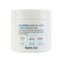 FarmStay Пилинг-диски очищающие с коллагеном Collagen Water Full Moist Toning Peeling Pad
