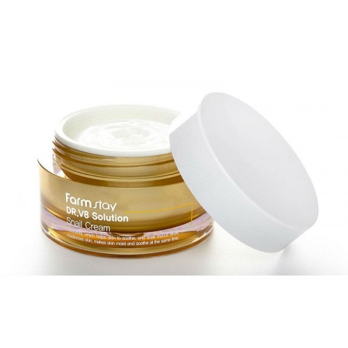 FarmStay Крем с муцином улитки Dr-V8 Solution Snail Cream
