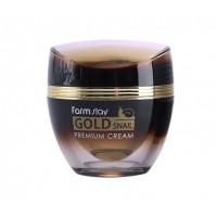 FarmStay Крем премиальный с золотом и муцином улитки Gold Snail Premium Cream