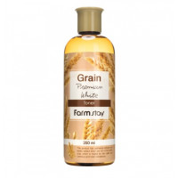 FarmStay Тонер выравнивающий с экстрактом ростков пшеницы Grain Premium White Toner