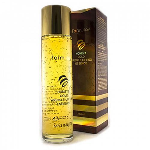 FarmStay Эссенция с лифтинг-эффектом с экстрактом мёда и золотом Honey & Gold Wrinkle Lifting Essence