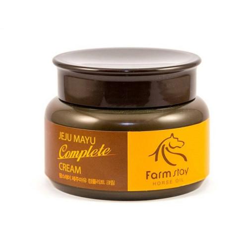 Крем для лица FarmStay с лошадиным маслом Jeju Mayu Complete Cream