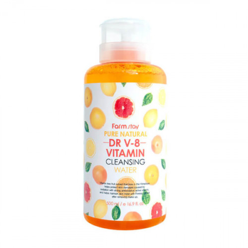 FarmStay Вода очищающая с витаминами Pure Natural Dr V-8 Vitamin Cleansing Water