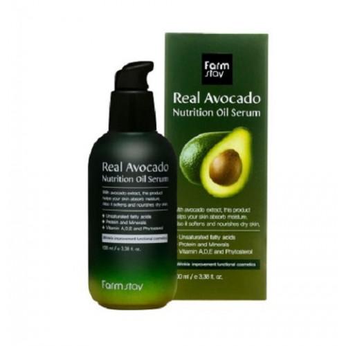 FarmStay Сыворотка питательная с маслом авокадо Real Avocado Nutrition Oil Serum