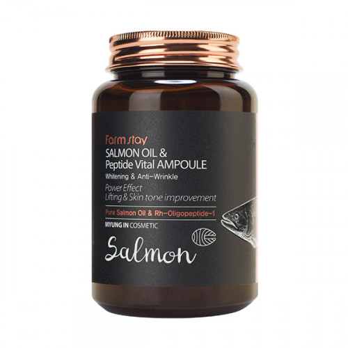 Farmstay Сыворотка ампульная с маслом лосося и пептидами Salmon Oil & Peptide Vital Ampoule