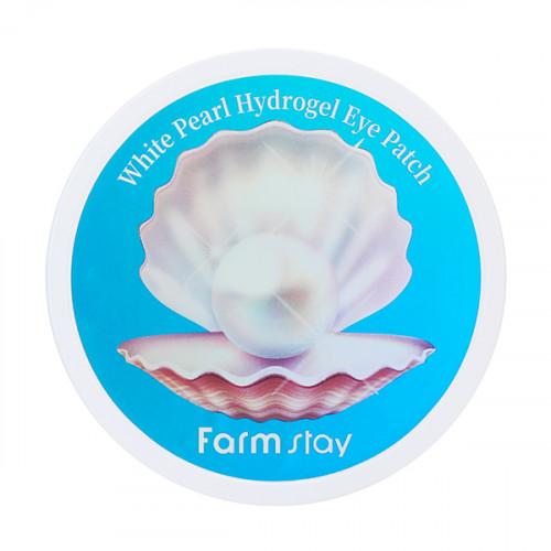 FarmStay Патчи для глаз с экстрактом жемчуга White Pearl Hydrogel Eye Patch