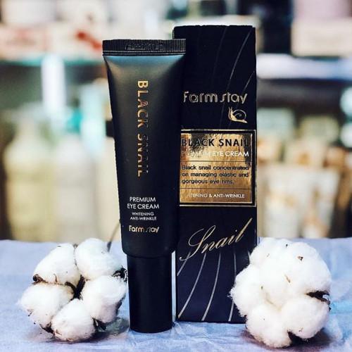 Farmstay Крем для глаз с муцином черной улитки Black Snail Premium Eye Cream