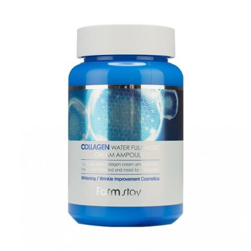 FarmStay Крем ампульный для лица с коллагеном Collagen Water Full Moist Cream Ampoule