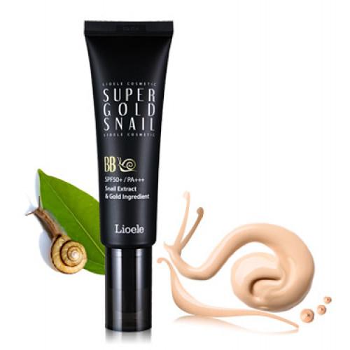 Lioele Крем ББ с экстрактом улитки и золотом Super Gold Snail BB, SPF50