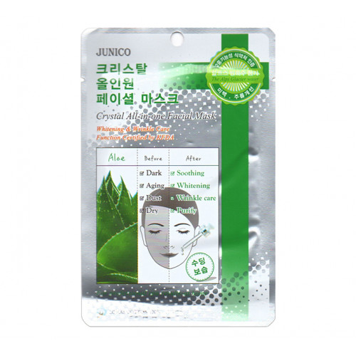 Mijin Маска тканевая Junico Crystal All-in-one Facial Mask