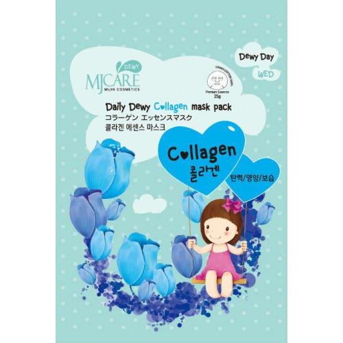 Mijin Маска тканевая с коллагеном MJ Care Daily Dewy Сollagen Mask Pack
