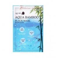 Mijin Маска для лица черный бамбук Aqua Bamboo Black Mask