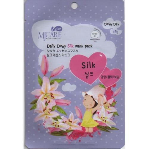 Mijin Маска тканевая с аминокислотами шелка MJ Care Daily Dewy Silk mask pack